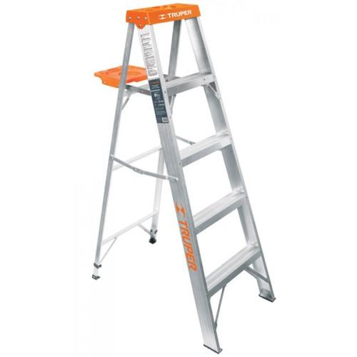 10445 escalera de tijera aluminio tipo ll 4 esc 865 for Tipos de escaleras de aluminio