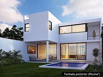 Casas En Venta Viva Residencial Temozón- 4 Recamarás Y 3.5ba