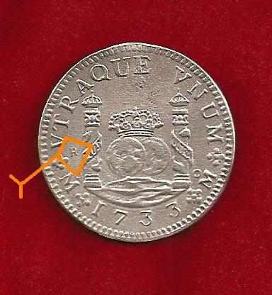 8 reales de philip v columnario de plata de 1733