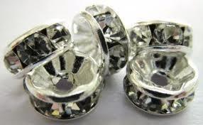articulos para armar, rondel dorado plateado broches piedras