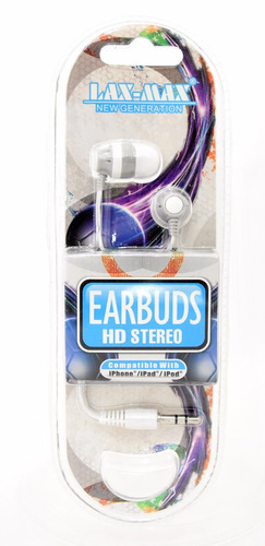 audifonos colores earbuds estereo ipod tablet o laptop