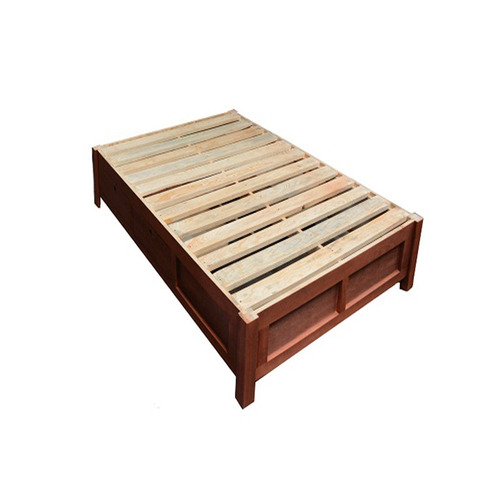 Base de cama matrimonial minimalsita con cajones y zapater for Base cama individual con cajones