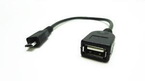 cable adaptador otg micro usb v8 a usb hembra ideal tablet