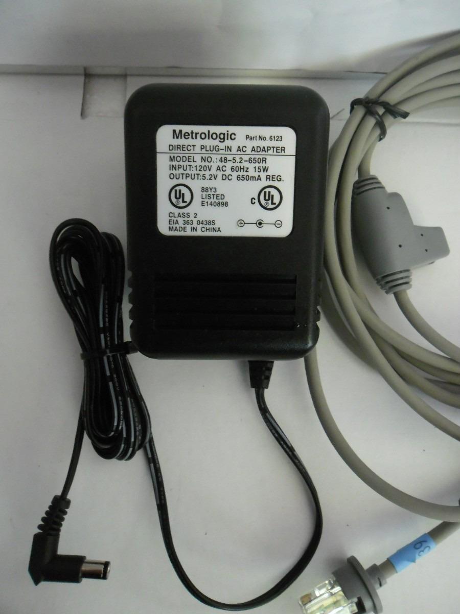 Cable Con Fuente Para Lector Metrologic Omnidireccional Ps
