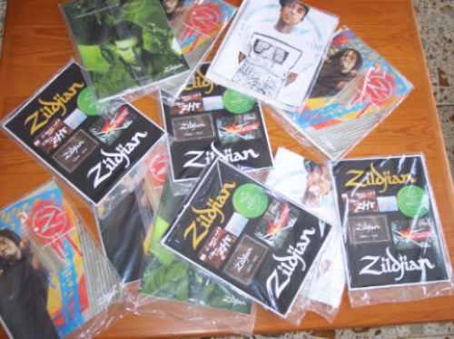 calcomanias y revista zildjian z time 10 / stickers original