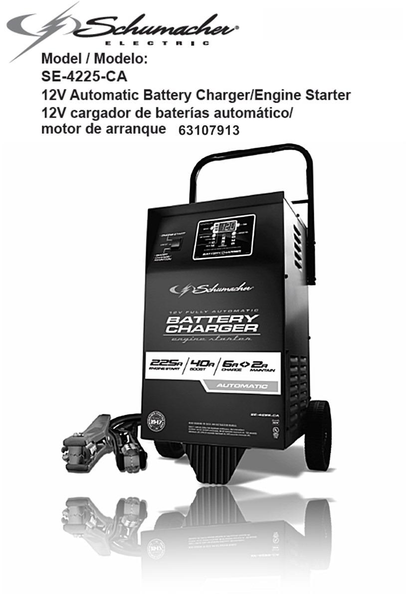 Cargador de baterias con probador y ruedas schumacher 12 v 2 en mercado libre - Cargador de pilas precio ...