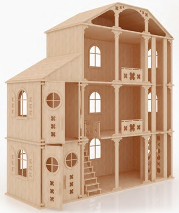 Casa fantasia para mu ecas barbie monster high en madera - Como hacer muebles para casa de munecas ...