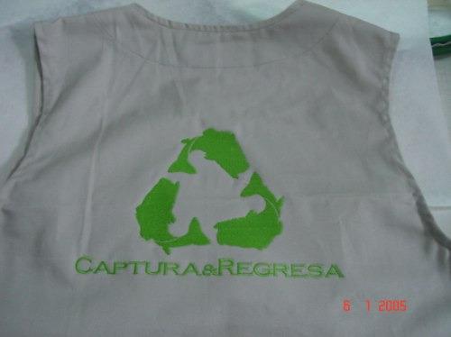 chalecos con bolsas para bordar campañas reportero dmm