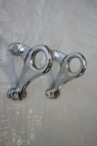 cortinero de aluminio en acabado tipo pewter  ch