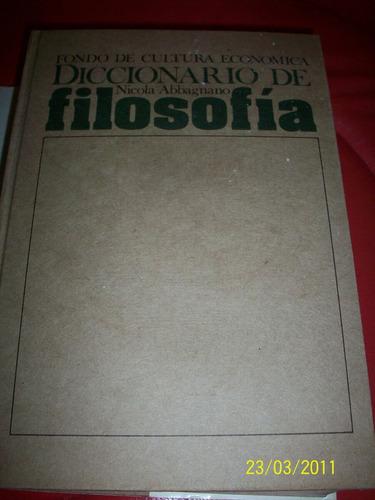 diccionario de filosofía, nicola abbagnano, 1983