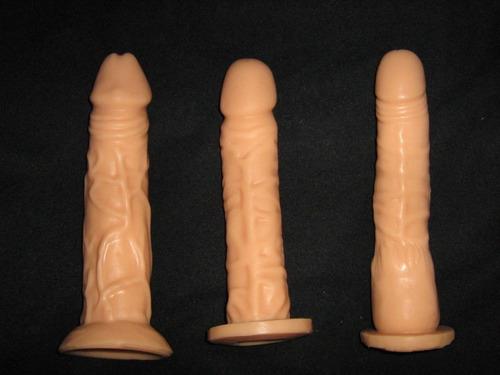 dildo consolador de latex pene 14 o 20 cms texturizado