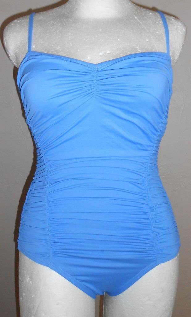 Trajes De Baño Azul Siete:Dkny! Traje De Baño Completo Azul Drappeado, Talla 6 – $ 40000 en