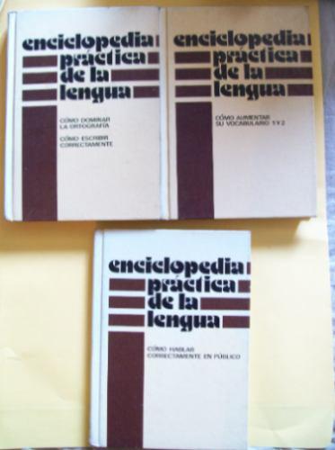 enciclopedia practica de la lengua -3 tomos