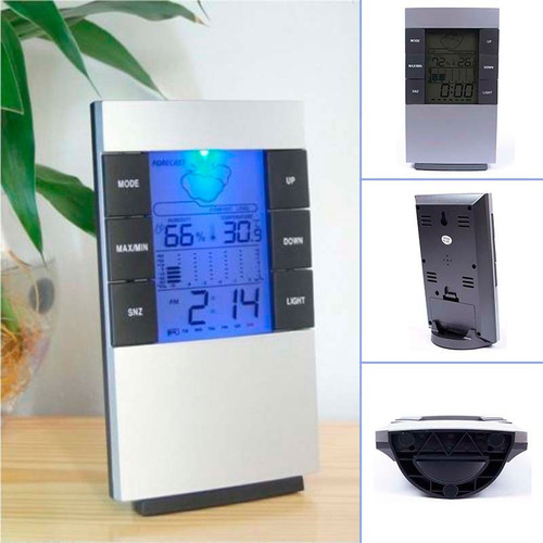 higrometro digital termometro medidor de humedad reloj alarm