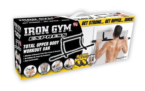 iron gym barra multifuncional biceps gym ejercita brazo