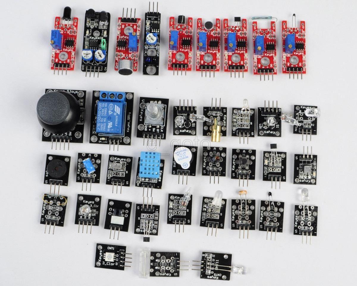 Kit de sensores para arduino o raspberry pi con estuche