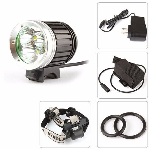 lampara bicicleta 4000 lumens luces led recargable frontal