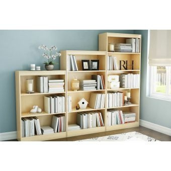 Librero crea muebles lc2mp moderno maple 3 en for Crea muebles