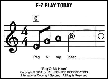libro de musica - ez play today piano teclado