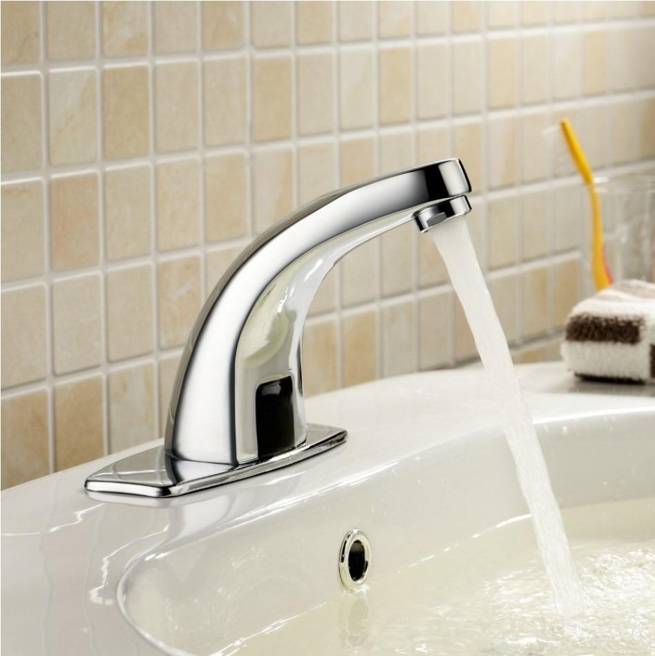 Llave automatica con sensor infrarojo para ba o lavabo for Llaves para lavabo helvex