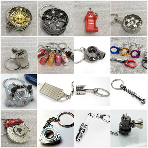 llaveros turbo,piston,caliper,bugia,intercooler sonido valvu