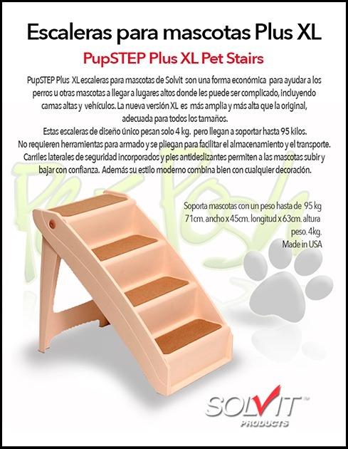 Escaleras pupstep xl solvit para mascotas perro o gato - Escaleras para perros ...