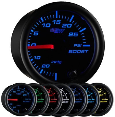 medidor turbo libras boost psi glowshift varios modelos hm4