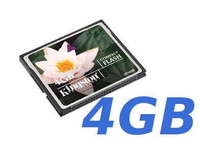 memoria compact flash 4 gb kingston nueva factura