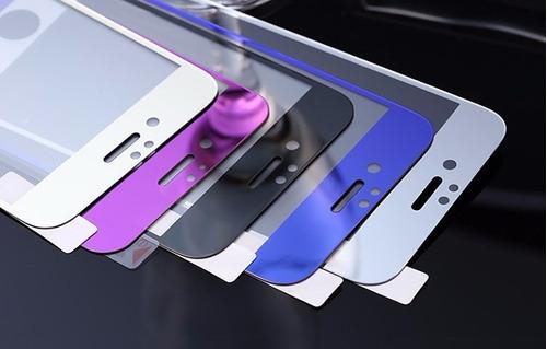 mica cristal 9h iphone 5 6 6s plus colores  front+back
