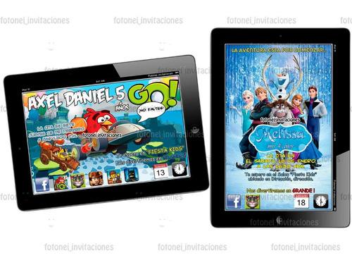 nuevas invitaciones imprimibles personalizadas tipo ipad
