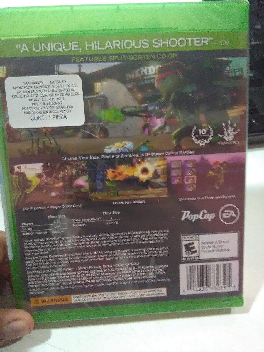 Plants Vs Zombies Garden Warfare Xbox One Nuevo Sellado En Mercado Libre