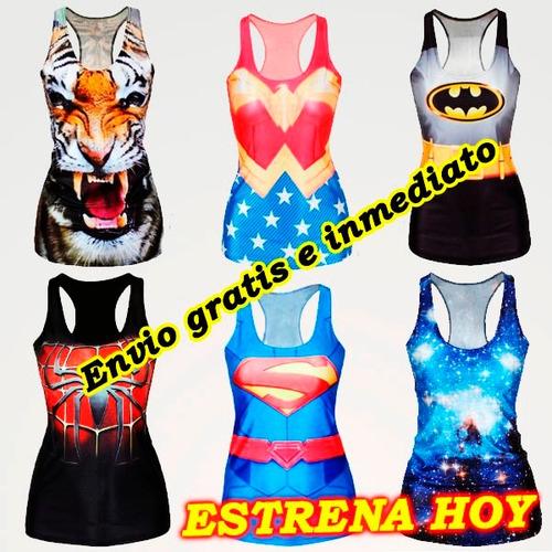 Playeras Super Heroes, Mujer Maravilla Batman Lote De 10 - $ 1,925.00