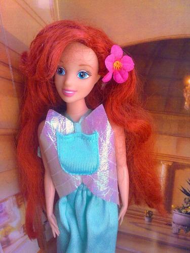 princesa ariel de disney mide 30cms