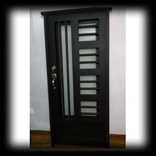 puerta principal de forja contempor nea s per oferta