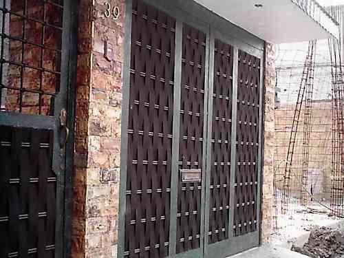 Puerta tejida de herreria rustica fina 4 en for Puertas galvanizadas