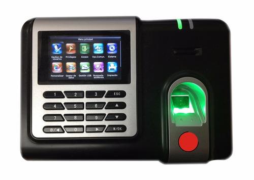 reloj checador huella digital 3000 empleados con red usb voz