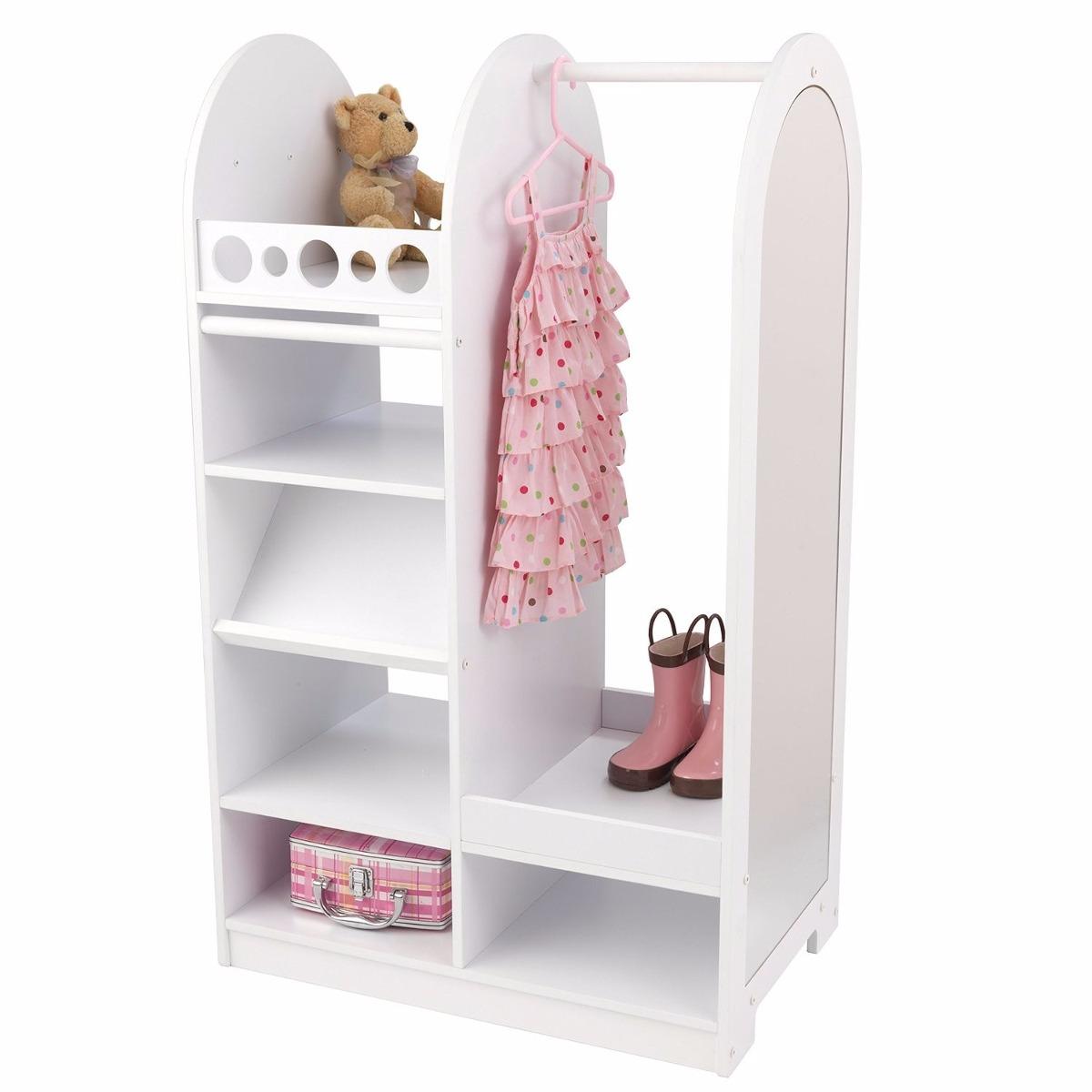Ropero roperito closet para ni a con espejo kid craft vv4 for Roperos para cuartos de ninas