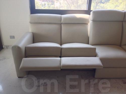 Sofa de piel reclinable 4 plazas 59 en mercado for Sofas 4 plazas reclinables