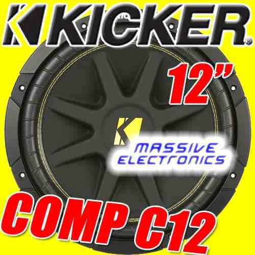 subwoofer kicker comp12 c12 p amplificador epicentro 2010