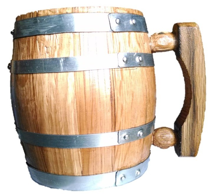 Tarro de barril de madera de roble blanco de 1 litro for Bar barril de madera