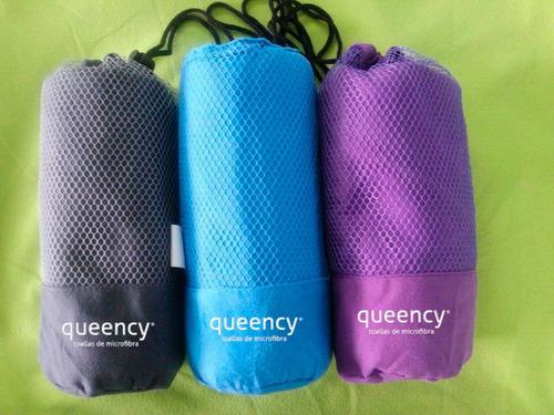 toalla de microfibra queency 80x160 y 40 x40 no cargues más