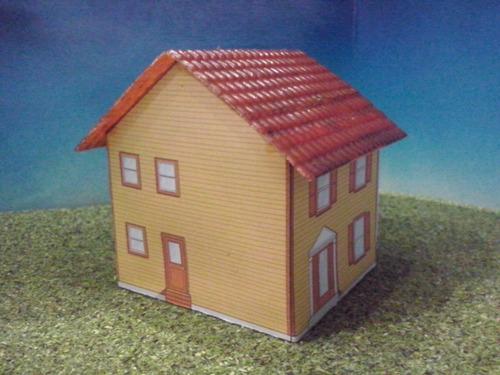 tren casa de carton 2 escala ho maqueta trenes arquitecto On casas hechas en carton